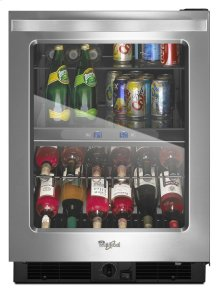 24-inch Wide Undercounter Beverage Center with Dual-temperature Controlled Zones - 5.8 cu. ft.