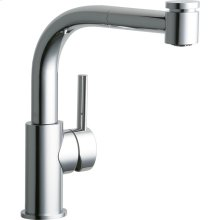 Elkay Mystic Single Hole Bar Faucet with Pull-out Spray and Lever Handle Chrome