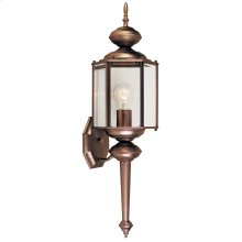 "7"" Wall Lantern in Distressed Bronze"