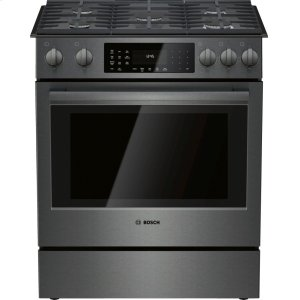 BOSCH800 Series Gas Slide-in Range 30'' Black stainless steel