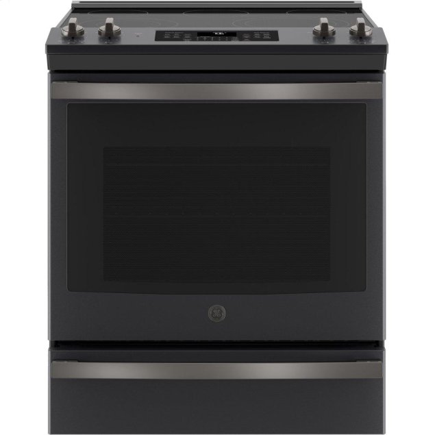 """GE ®30"""" Slide-In Electric Convection Range"""