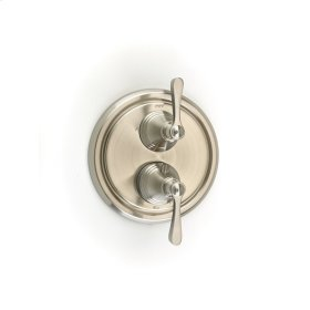 Dual Control Thermostatic with Diverter and Volume Control Valve Trim Summit (series 11) Satin Nickel