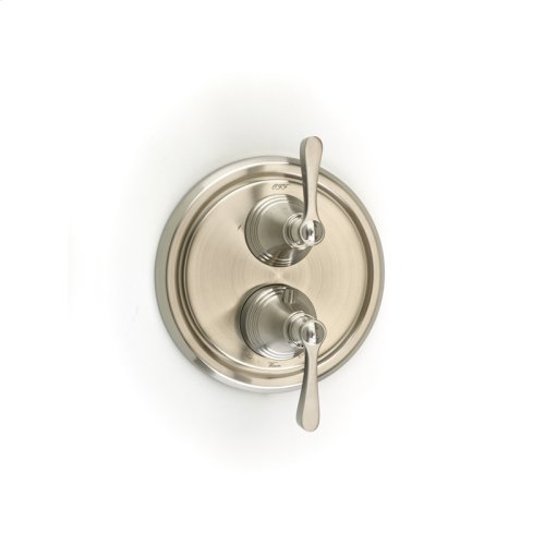 Dual Control Thermostatic with Diverter and Volume Control Valve Trim Berea (series 11) Satin Nickel