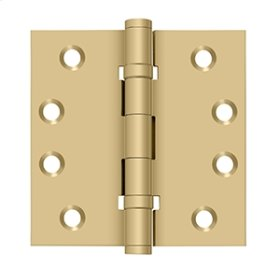 "4""x 4"" Square Hinges, Ball Bearings - Brushed Brass"