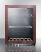 Built-in Undercounter Beverage Refrigerator With Glass Door With Panel-ready Frame, Digital Controls, Lock, and Black Cabinet Product Image