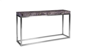 Amethyst Console Table Stainless Steel Base