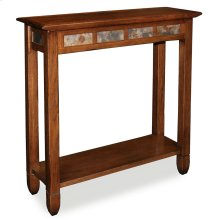 Rustic Oak Slate Hall Stand #10059