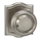 Interior Traditional Knob Latchset with Arched Rose - Solid Brass in TB (Tuscan Bronze, Lacquered) Product Image