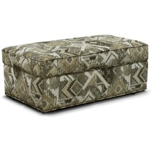 June Storage Ottoman with Nails 2A0081N