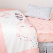 Doudou the rabbit 3-Piece Baby Crib Bed Set and Pillow - Pink