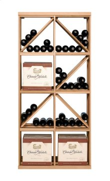 Apex 6' Case & Diamond Bin Modular Wine Rack