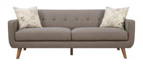 Sofa Brown W/2 Accent Pillows
