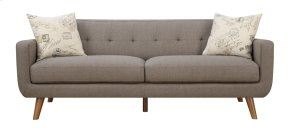 Sofa Brown W/2 Accent Pillows