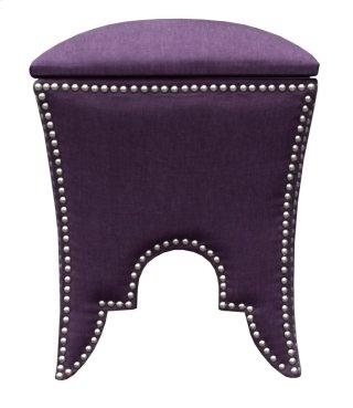 Royal Purple Ottoman