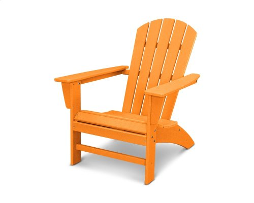 Vintage Tangerine Nautical Adirondack Chair in Vintage Finish