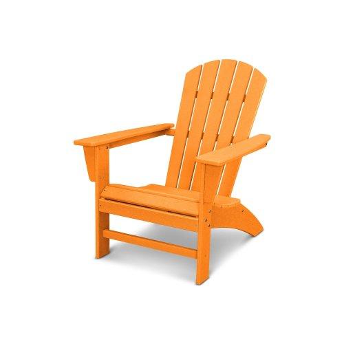 Vintage Tangerine Nautical Adirondack Chair in Vintage Finish