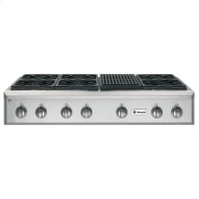 """GE Monogram® 48"""" Professional Gas Rangetop with 6 Burners and Grill (Liquid Propane)"""
