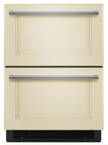 """24"""" Stainless Steel Double Refrigerator Drawer - Panel Ready"""