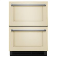 "24"" Panel Ready Double Refrigerator Drawer"