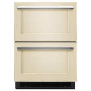 "Kitchenaid24"" Stainless Steel Double Refrigerator Drawer - Panel Ready"