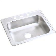 "Dayton Stainless Steel 25"" x 21-1/4"" x 6-9/16"", Single Bowl Drop-in Sink"