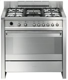 """Free-standing Dual Fuel Dual Cavity """"Opera"""" Range Approx. 36"""" Stainless Steel Product Image"""