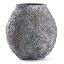 Cleobury Blue  12in x 10in Floral Concrete Vase