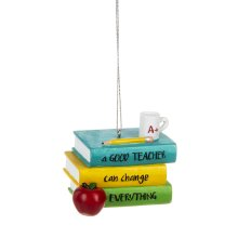 """""""A Good Teacher Can Change Everything"""" Ornament."""