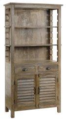 Bengal Manor Mango Wood Grey Bookcase Product Image