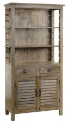 Bengal Manor Mango Wood Grey Bookcase Product Image