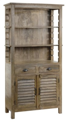 Bengal Manor Mango Wood Grey Bookcase