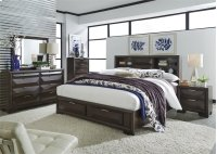 Queen Storage Bed, Dresser & Mirror, Chest, NS Product Image