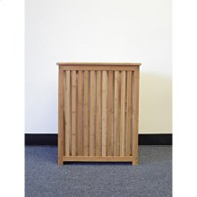 Horizon laundry hamper, made of solid bamboo in natural carbonized color. Comes with a canves bag.