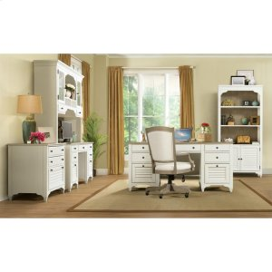 RiversideMyra - Executive Desk - Natural/paperwhite Finish