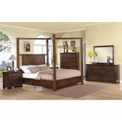 Riata - Queen/king Bed Rails - Warm Walnut Finish
