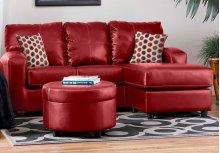 San Marino Red / Shogun Red PU Sofa