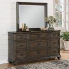 Belmeade - Landscape Mirror - Old World Oak Finish Product Image
