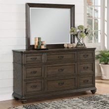 Belmeade - Landscape Mirror - Old World Oak Finish