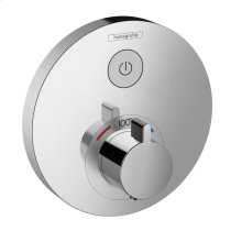 Chrome Thermostatic Trim for 1 Function, Round