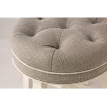 Sophia Backless Vanity Stool - Linen Gray