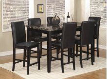 Palms 7 Pc. Pub Set Black
