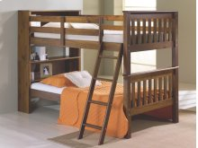 Twin/ Twin Mission Bookcase Bunkbed