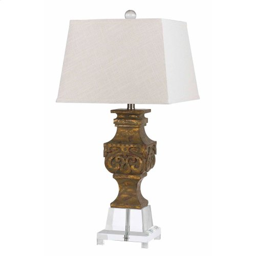 150W Pierson Resin/Crystal Lamp