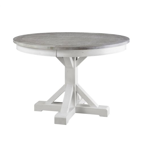 "Emerald Home Centerville 54"" Round Gathering Table Antique White D719-16"