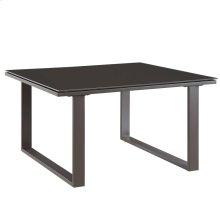 Fortuna Outdoor Patio Side Table in Brown