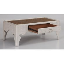 Miramar Rectangular Scroll-Leg Coffee Table