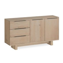 White Oil Small Sideboard Wooden Base
