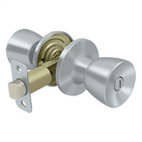 St. Thomas Knob Privacy - Brushed Chrome