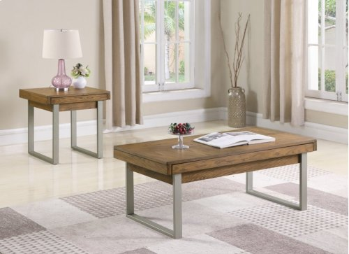 Emerald Home Slider End Table With Storage and Usb Port-t420-01