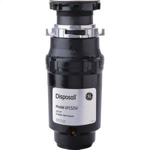 GE®1/2 HP Continuous Feed Garbage Disposer - Corded